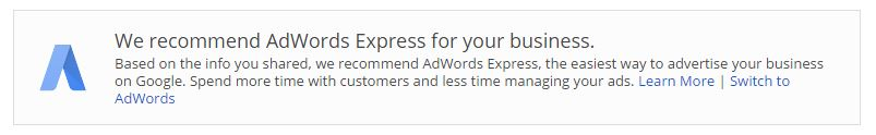 AdWords Recommendation