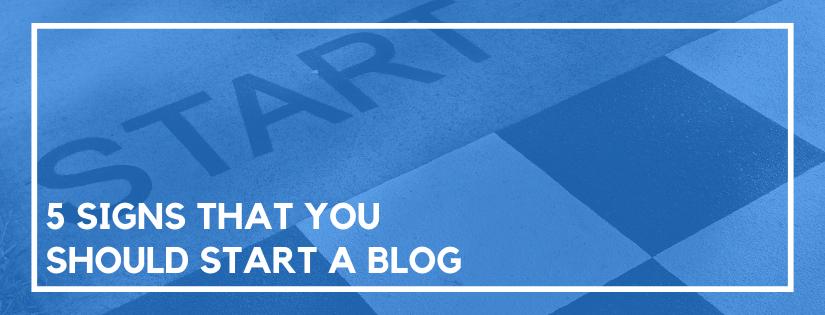 should i start a blog