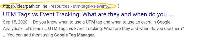 google url breadcrumb