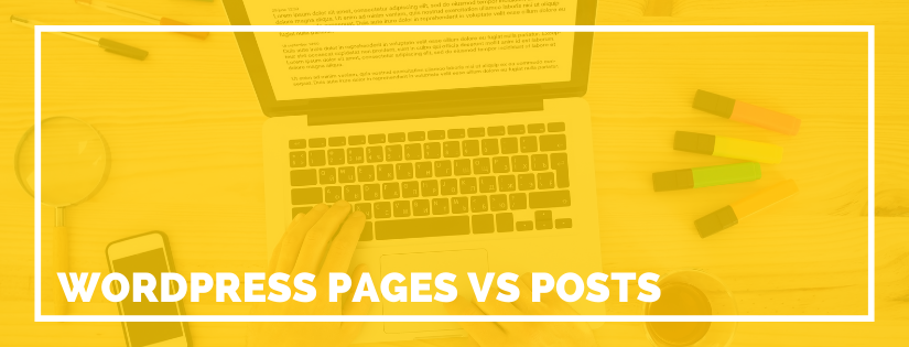 wordpress pages vs posts