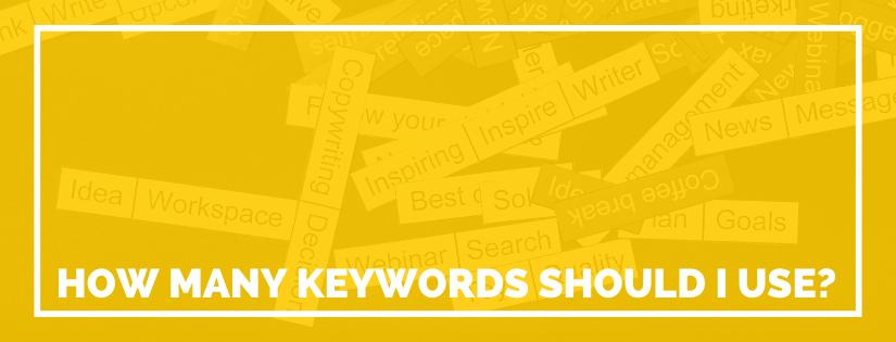 how many keywords to use
